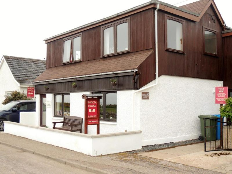 The Fabric Fairy/Invicta House B&B. Located at 10 Ferry Road, Golspie, KW10 6ST.